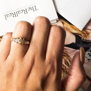 Yellow diamond marquise diamond ring